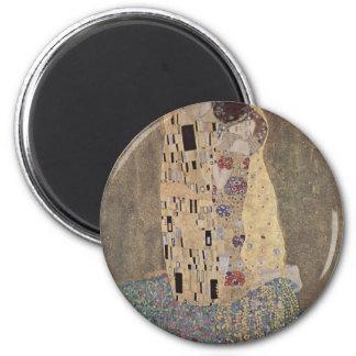 Klimt - The Kiss 2 Inch Round Magnet