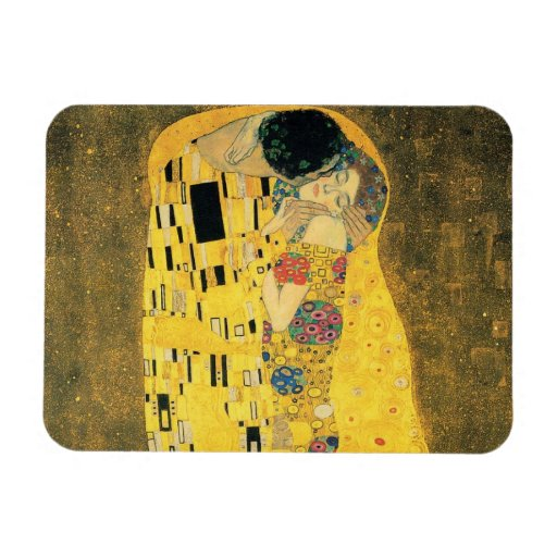Klimt: The Kiss Art Premium Magnet