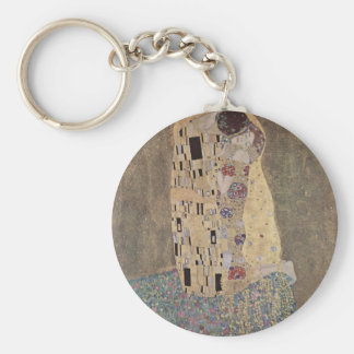 Klimt - The Kiss Basic Round Button Keychain