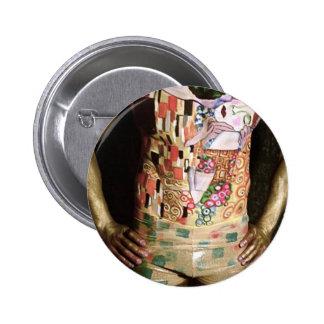 Klimt, The Kiss Pinback Button