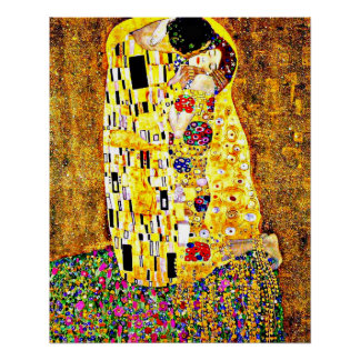 Klimt - The Kiss (full length) fine art Poster