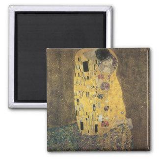 Klimt, The Kiss Square Magnet