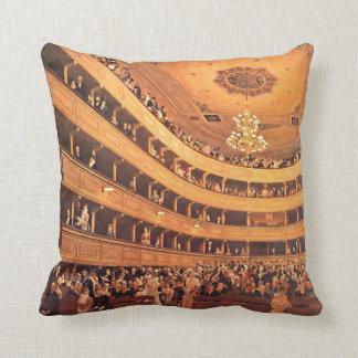 Klimt - The Old Burgtheater Throw Pillow