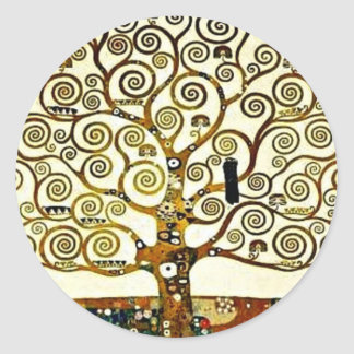 Klimt - The Tree of Life, Stoclet Frieze Classic Round Sticker