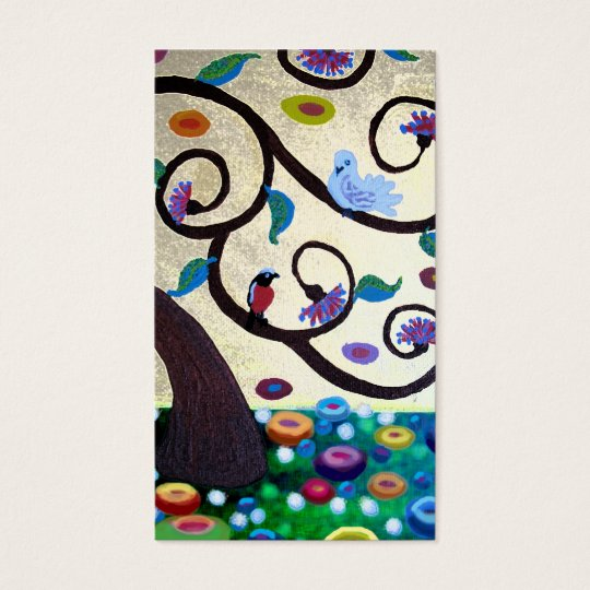 Klimt  tree business card
