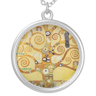 Klimt - Tree of Life Silver Plated Necklace