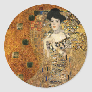 Klimt's Adele Bloch-Bauer Portrait Classic Round Sticker
