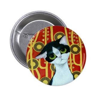 Klimt's Cat 2 Inch Round Button