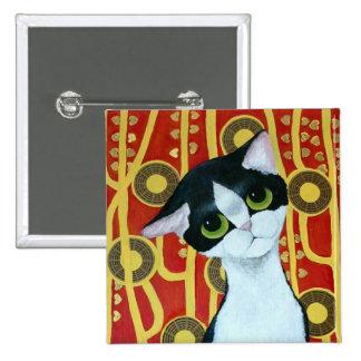 Klimt's Cat Pinback Button