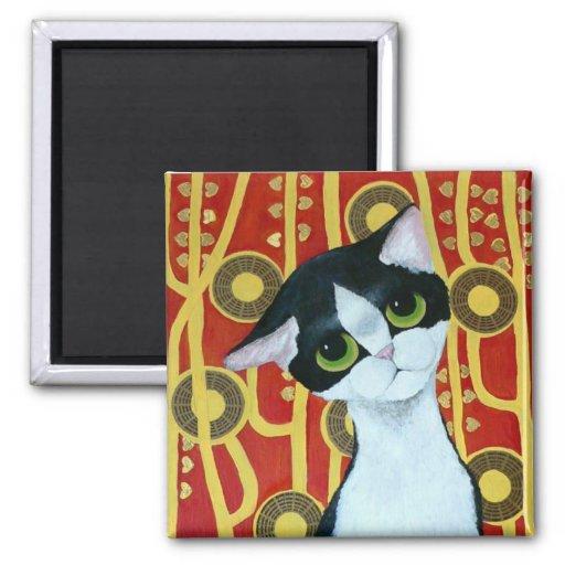 Klimt's Cat Refrigerator Magnets