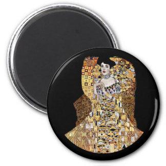 Klimt's Portrait of Adele Bloch-Bauer 2 Inch Round Magnet