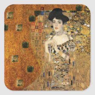 Klimt's Portrait of Adele Bloch-Bauer Square Sticker