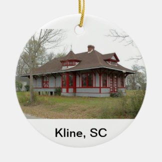Kline Depot Ceramic Ornament