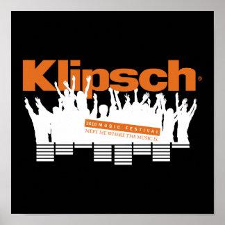 Klipsch Music Festival 2010 Mini Poster
