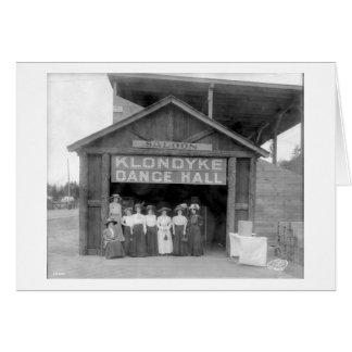 Klondyke Dance Hall, Greeting Card