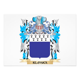 Kloska Coat of Arms - Family Crest Announcements