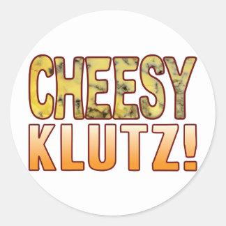 Klutz Blue Cheesy Round Sticker