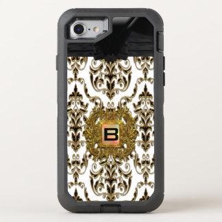 Klysworth Girly Damask Elegant Monogram OtterBox Defender iPhone 7 Case