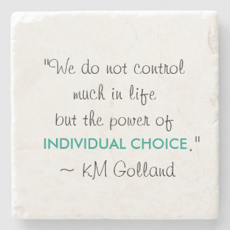 KM Golland 'Power of Individual Choice' Coaster