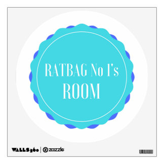 KM Golland Ratbag No 1 (Boy) Wall Decal
