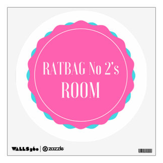 KM Golland Ratbag No 2 (Girl) Wall Decal