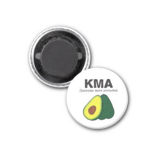 kma. (konsume more avocados) 1 inch round magnet