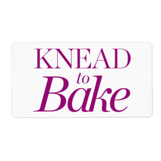 Knead To Bake Shipping Label