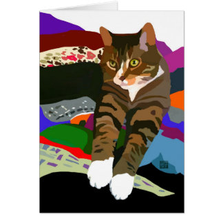 """KNEADING TO FOLD LAUNDRY"" cat Card"