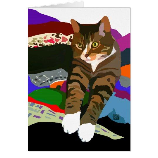 """KNEADING TO FOLD LAUNDRY"" cat Card"