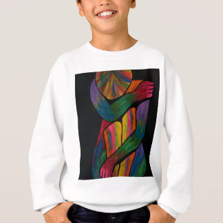 Knee Hugging Pop Art Portrait Sweatshirt