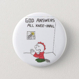 knee-mail = Funny church sayings 2 Inch Round Button