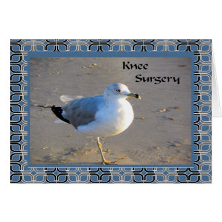 Knee Surgery Card with Sea Gull