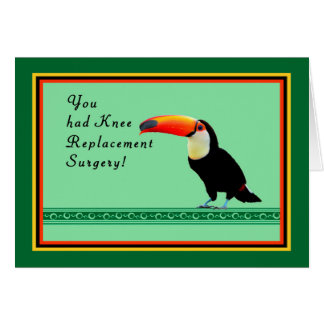 Knee Surgery Card with Toucan