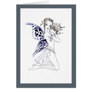 Kneeling Fairy Card