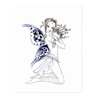 Kneeling Fairy Postcard