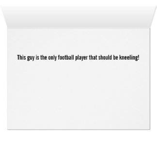 Kneeling Football Player Thinking of You Card