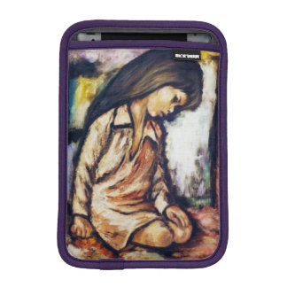 Kneeling Girl Reflections Beach Ipad Mini Case Sleeve For iPad Mini