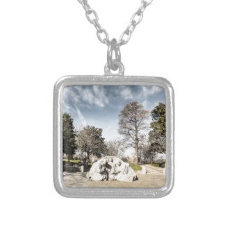 Kneeling Ministers in Kelly Ingram Park Silver Plated Necklace