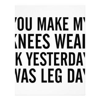 Knees Weak Letterhead