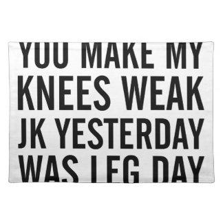 Knees Weak Placemat