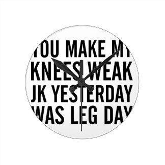 Knees Weak Round Clock