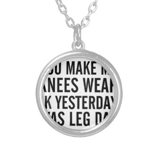 Knees Weak Silver Plated Necklace