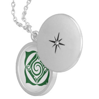 knick-knack mandala silver plated necklace