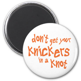 Knickers 2 Inch Round Magnet