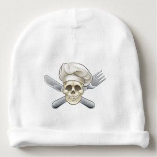 Knife and Fork Pirate Chef Baby Beanie