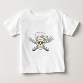 Knife and Fork Pirate Chef Baby T-Shirt