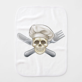 Knife and Fork Pirate Chef Burp Cloth