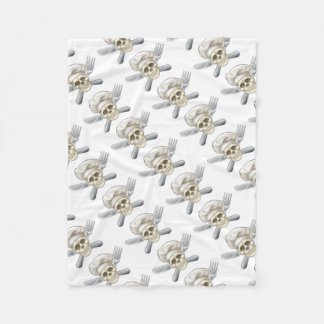 Knife and Fork Pirate Chef Fleece Blanket