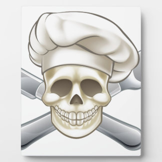 Knife and Fork Pirate Chef Plaque