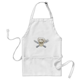 Knife and Fork Pirate Chef Standard Apron